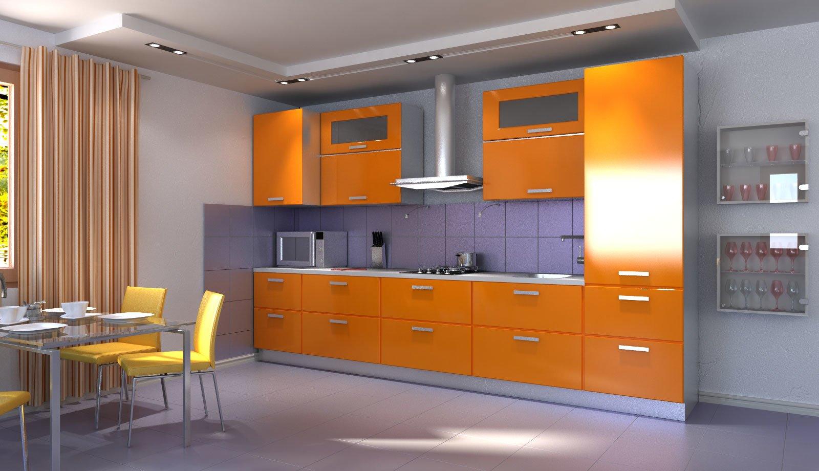 Дизайн кухня 3 метра